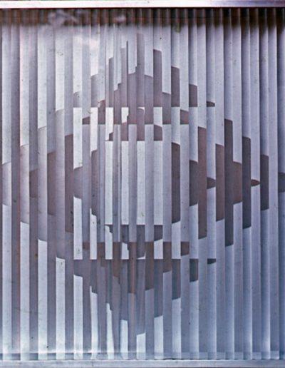 AP4 | brushed aluminium and perspex | 92x92x10cm