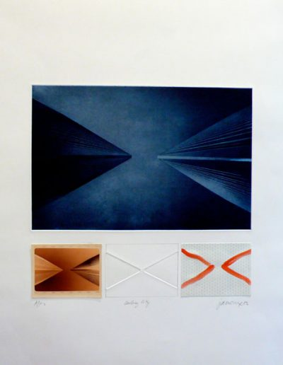 LA   76x57cm   Etching, Photo, Emboss and gouache on Arch Paper