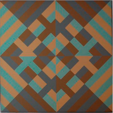 Painting 14 | polymer paint on canvas | 92x92cm | private collection Sheffield UK