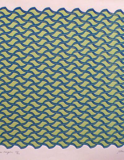 Mauritian Lagoon | Silkscreen on cartridge | 50x56cm
