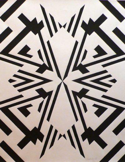 Silkscreen 1 | Letra color paper | 46x46cm